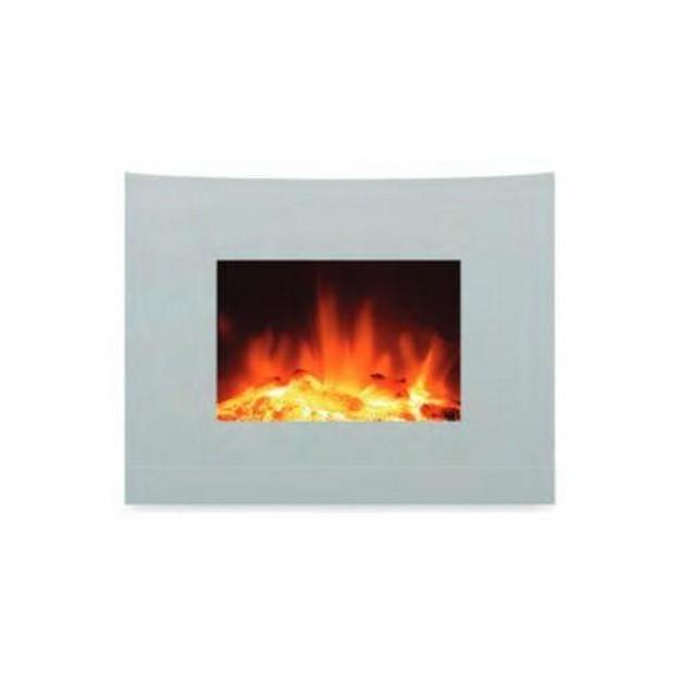 Camino elettrico ardes 372 bianco mondobrico riscaldamento - Stufe a parete elettriche ...