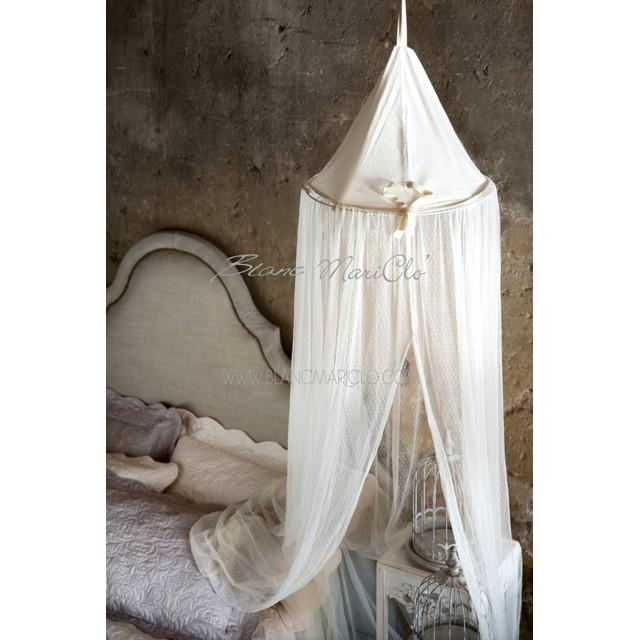 Zanzariera da letto a pois cm 50 00 x 300 00 mondobrico - Zanzariera da letto ...