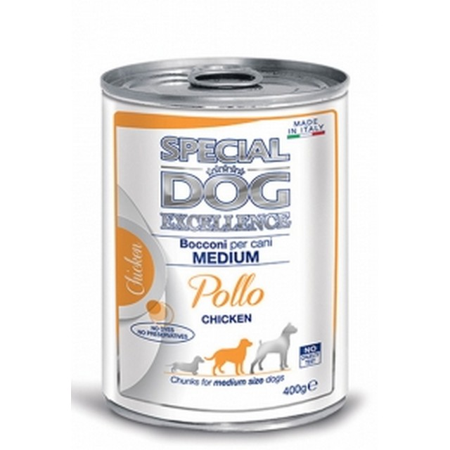 MONGE SPECIAL DOG EXCELLENCE BOCCONI MEDIUM ADULT POLLO GR 400
