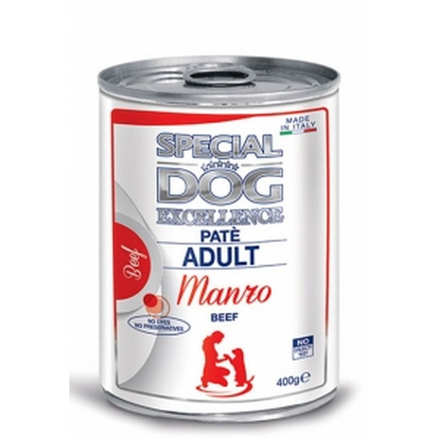 MONGE SPECIAL DOG EXCELLENCE PATE ADULT MANZO GR 400