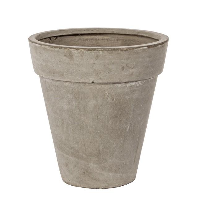 Vaso cemento classico sabbia 46h mondobrico giardino for Sabbia da giardino